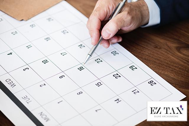Ważne terminy podatkowe – poznaj kalendarz przedsiębiorcy